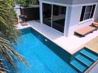 private pool villa cheap home