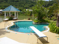freeform pool private home Phuket